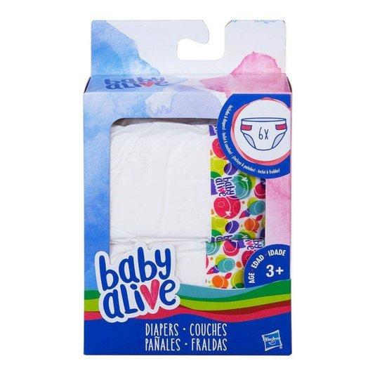 Fralda Boneca Baby Alive 6 Unidades Hasbro