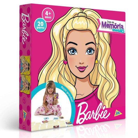 Jogo da Memória Grandão 40 peças Barbie Toyster