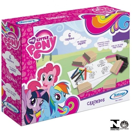 Jogo de Carimbos My Little Pony Xalingo