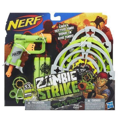 Lança Dardo Nerf Zombie com Alvos Hasbro