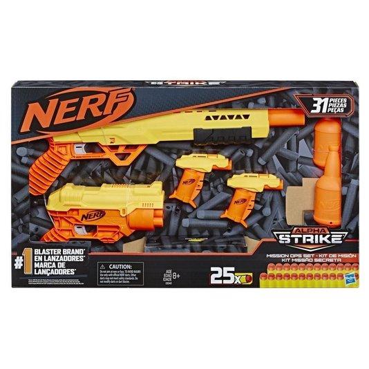 Lançadores Nerf Alpha Strike Missão Secreta Hasbro