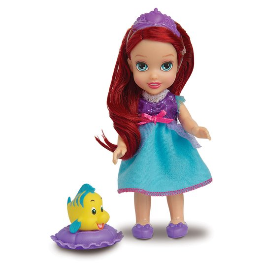Pequena Princesa Ariel com Pet Disney Mimo