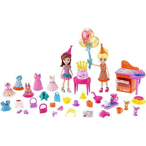 Polly Pocket Festa de Aniversário Divertida Mattel
