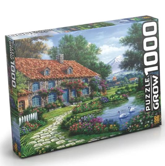 Puzzle Recanto dos Cisnes 1000 Peças Grow
