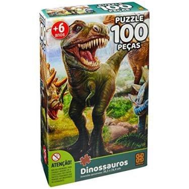Quebra-Cabeça Dinossauros 100 Peças Grow
