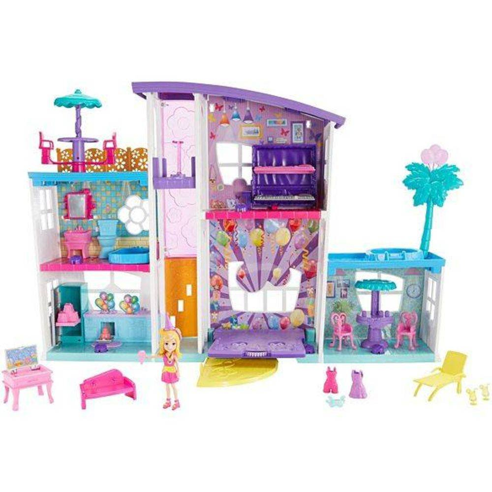 Mega Casa de Surpresas Polly Pocket Mattel
