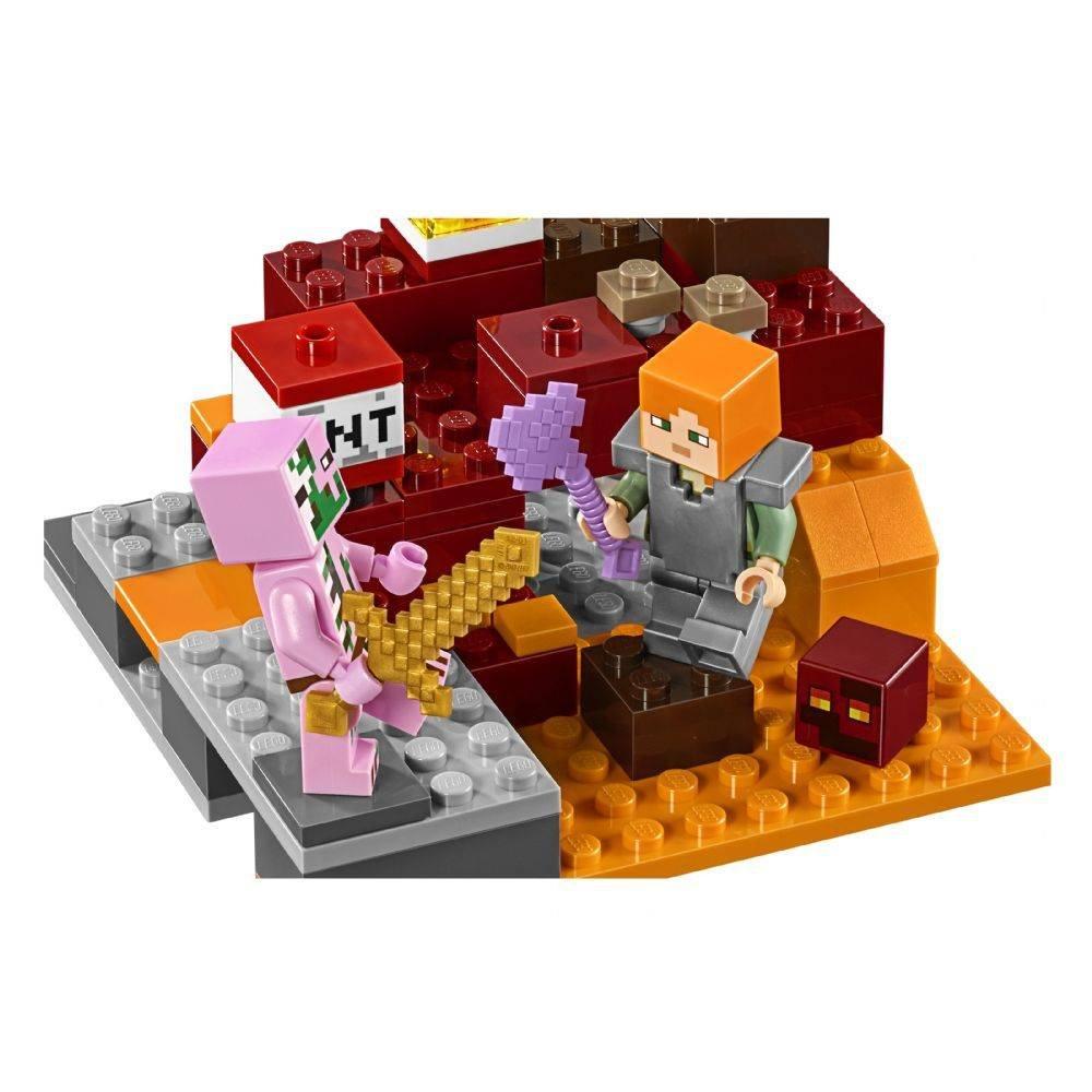 O Combate de Nether Lego