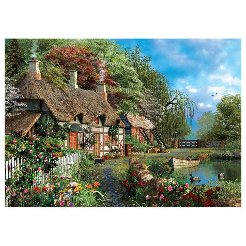 Puzzle Casa no Lago 1000 Peças Grow