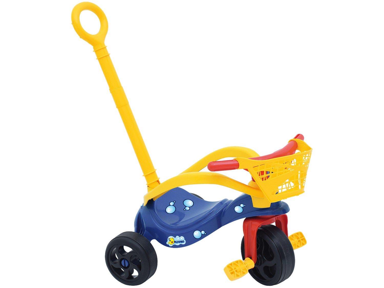 Triciclo Peixinho com Empurrador Xalingo